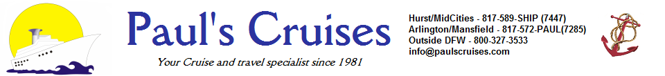 Paul's Cruises and Travel!
